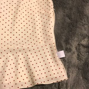 Talbots Tops - Talbots polka dotted peplum with side zip